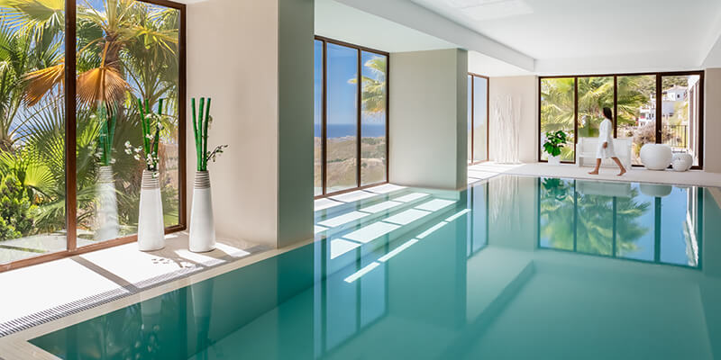 Benahavis hills indoor spa heated pool and facilities