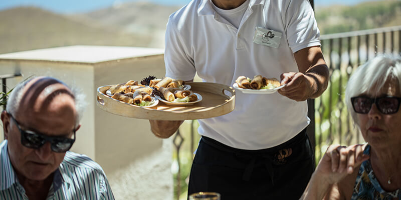 Professional and friendly service at private events in Benahavis Hills Cafe & Restaurant