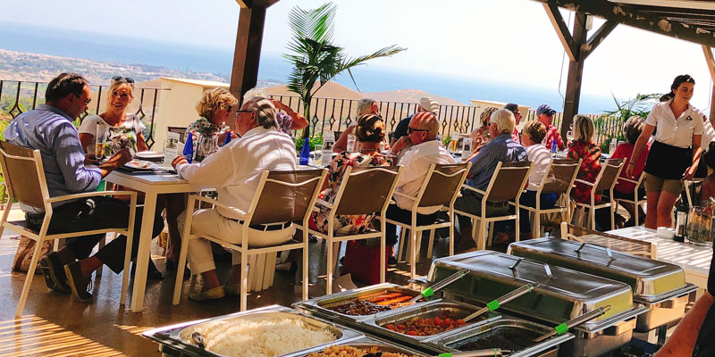 Benahavis Hills outdoor restaurant catering for a private event