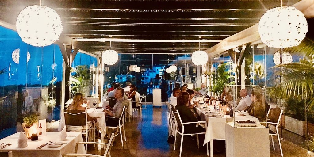 Dining under the Stars on Friday evenings at our restaurant in Benahavis