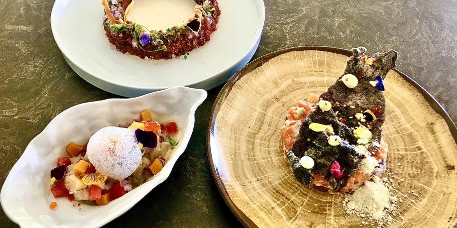 Degustation menu presentation in Benahavis Hills Restaurant