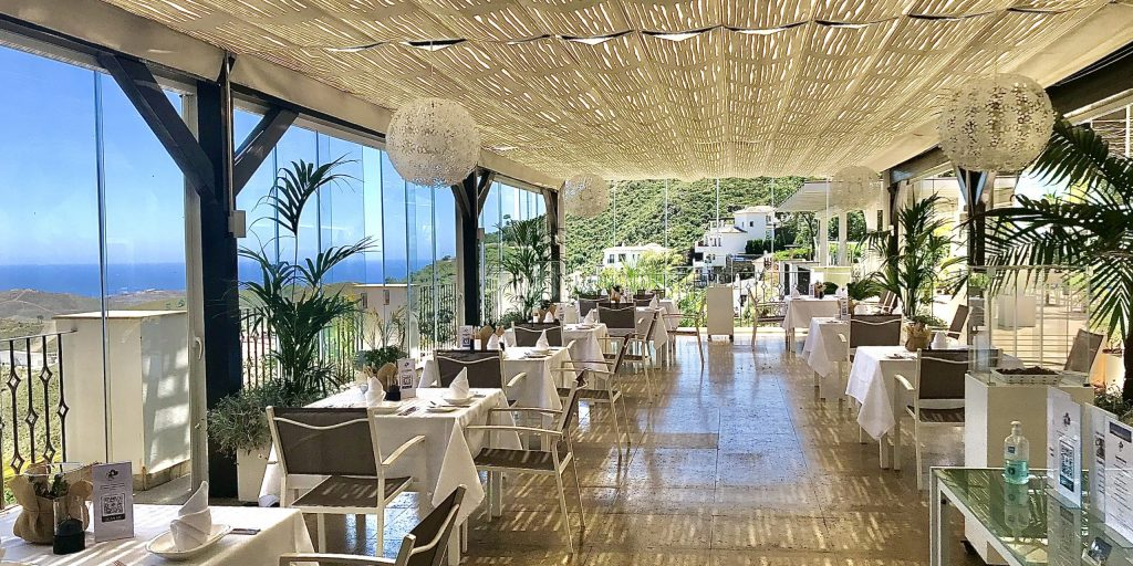 Part of the Outdoor area of Benahavis Hills Cafe & Restaurant available for private parties, seminars and special events, private and corporate